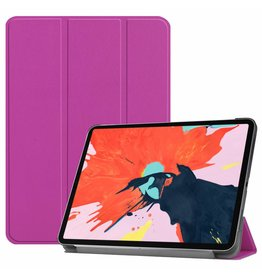 3-Vouw sleepcover hoes - iPad Pro 12.9 inch (2018) - paars