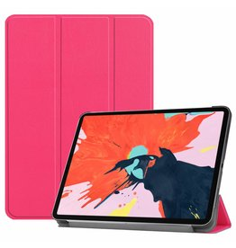 3-Vouw sleepcover hoes - iPad Pro 12.9 inch (2018) - roze