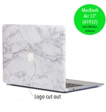 Lunso Lunso Marble Cosette cover hoes voor de MacBook Air 13 inch (2018)