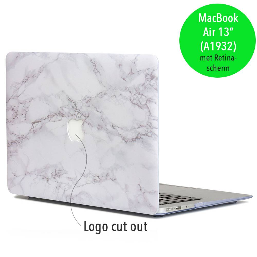 Lunso Lunso Marble Cosette cover hoes voor de MacBook Air 13 inch (2018-2019)
