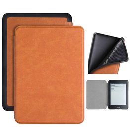 Lunso Lunso - sleepcover flip hoes - Kindle Paperwhite 4 - Bruin