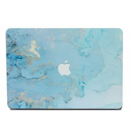 Lunso Lunso - cover hoes - MacBook Air 13 inch (2018-2019) - Marble Ariel