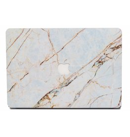 Lunso Lunso - cover hoes - MacBook Air 13 inch (2018-2019) - Marble Everly