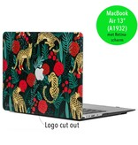 Lunso Lunso Leopard Roses cover hoes voor de MacBook Air 13 inch (2018)