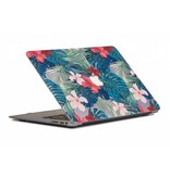 Lunso Lunso Tropical Red cover hoes voor de MacBook Air 13 inch (2018)