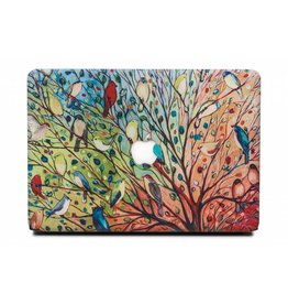 Lunso Lunso - cover hoes - MacBook Air 13 inch (2018-2019) - Boom met vogels