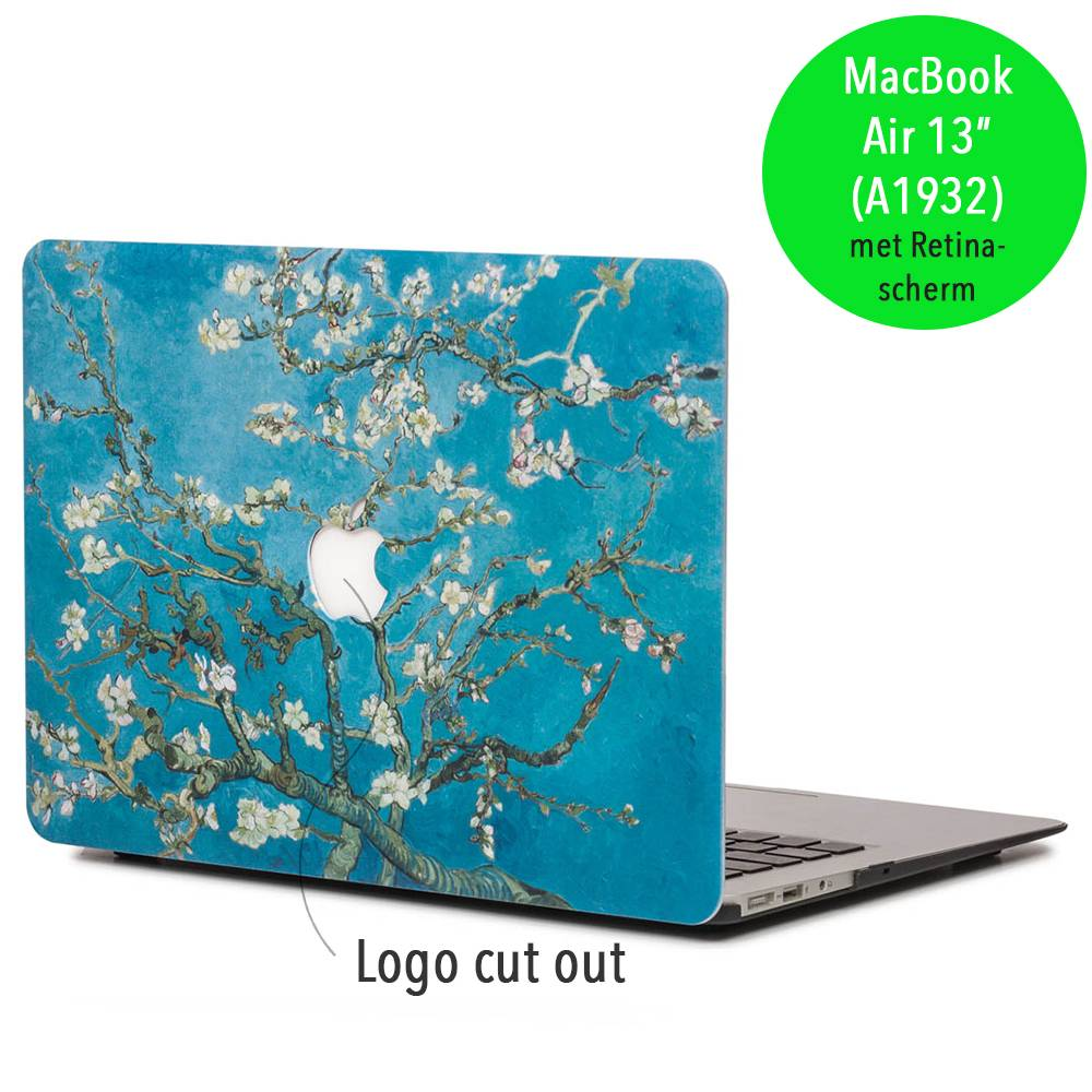 Lunso Lunso Van Gogh amandelboom cover hoes voor de MacBook Air 13 inch (2018)