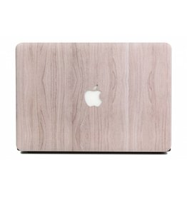 Lunso Lunso - cover hoes - MacBook Air 13 inch (2018-2019) - Houtlook lichtbruin