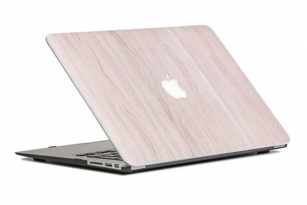 Lunso Lunso Houtlook lichtbruin cover hoes voor de MacBook Air 13 inch (A1932/A1989)