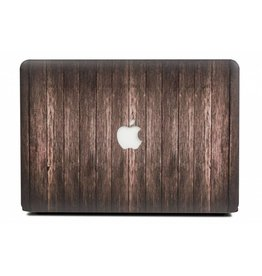 Lunso Lunso - cover hoes - MacBook Air 13 inch (2018-2019) - Houtlook donkerbruin