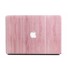 Lunso Lunso - cover hoes - MacBook Air 13 inch (2018) - Houtlook roze