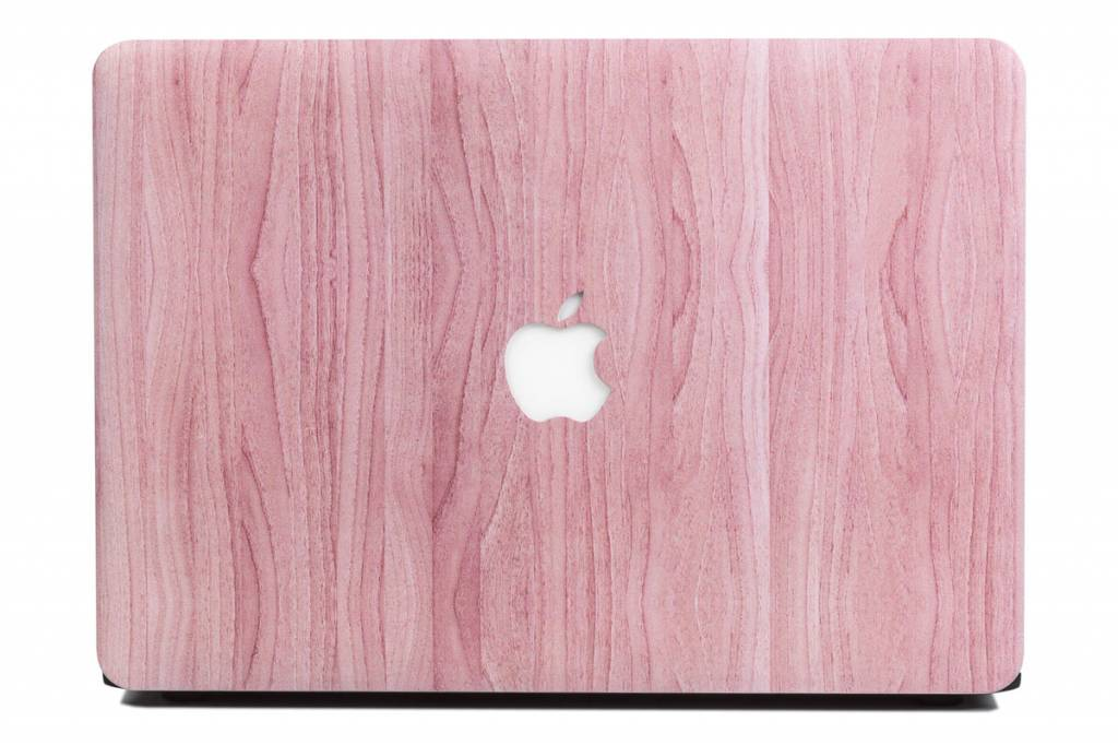 Lunso Lunso Houtlook roze cover hoes voor de MacBook Air 13 inch (2018)
