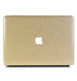 Lunso Lunso - cover hoes - MacBook Air 13 inch (2018-2019) - Glitter goud
