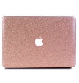Lunso Lunso - cover hoes - MacBook Air 13 inch (2018) - Glitter rosé goud