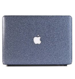 Lunso Lunso - cover hoes - MacBook Air 13 inch (A1932/A1989) - Glitter blauw