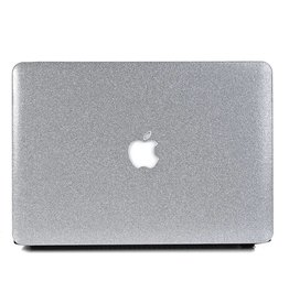 Lunso Lunso - cover hoes - MacBook Air 13 inch (A1932/A1989) - Glitter zilver