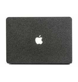 Lunso Lunso - cover hoes - MacBook Air 13 inch (2018) - Glitter zwart