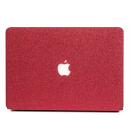 Lunso Lunso - cover hoes - MacBook Air 13 inch (A1932/A1989) - Glitter rood
