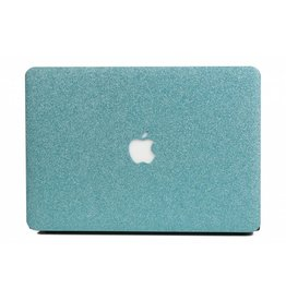 Lunso Lunso - cover hoes - MacBook Air 13 inch (A1932/A1989) - Glitter lichtblauw