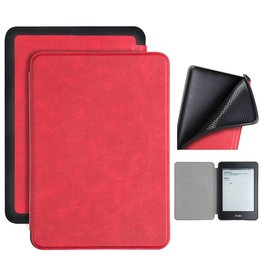 Lunso Lunso - sleepcover flip hoes - Kindle Paperwhite 4 - Rood