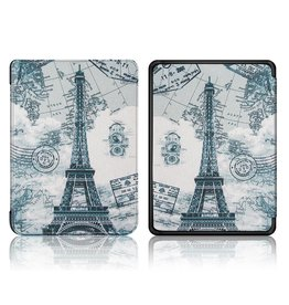 Lunso Lunso - sleepcover hoes - Kindle Paperwhite 4 - Eiffeltoren