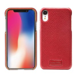 Pierre Cardin Pierre Cardin - echt lederen backcover hoes - iPhone XR - Rood