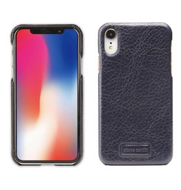 Pierre Cardin Pierre Cardin - echt lederen backcover hoes - iPhone XR - Blauw