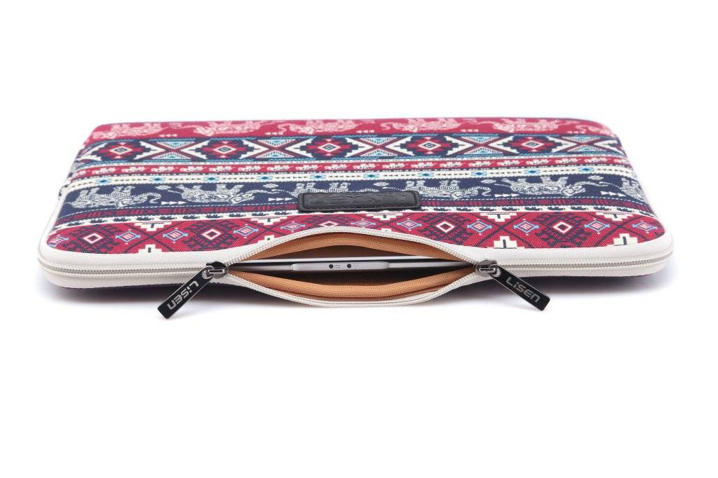 Lisen Olifant rood laptop sleeve hoes voor 13 inch