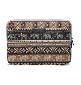 Lisen - laptop sleeve hoes 13 inch - Olifant bruin
