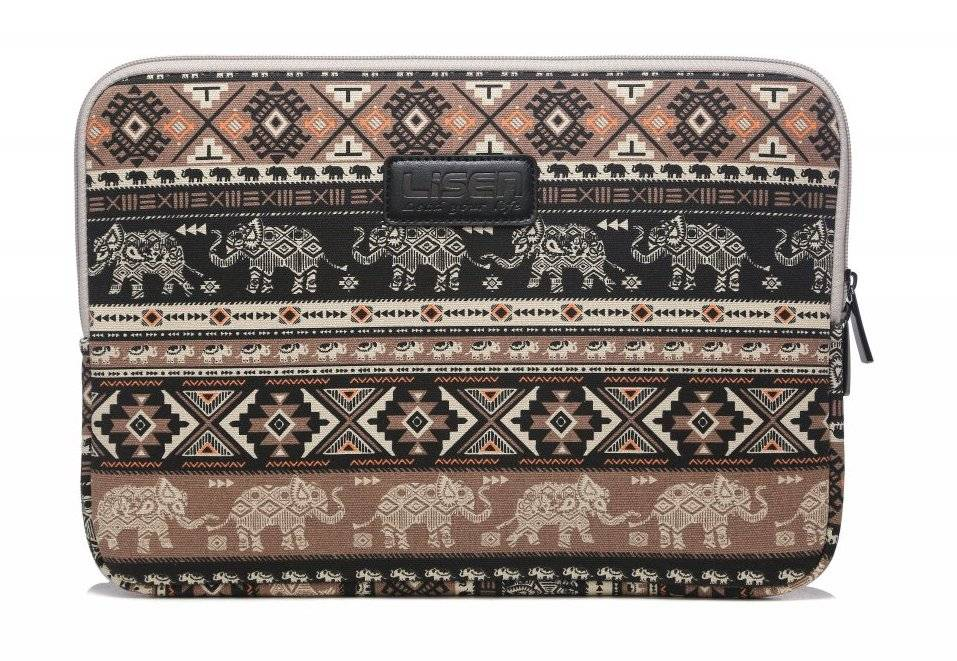Lisen Olifant bruin laptop sleeve hoes voor 13 inch