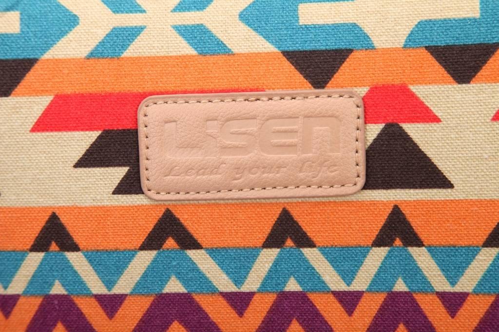 Lisen Vintage Orange laptop sleeve hoes voor 13 inch