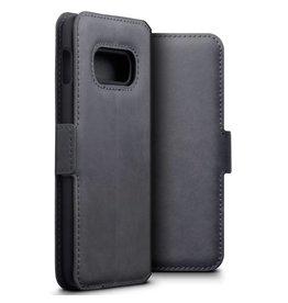 Qubits Qubits - lederen slim folio wallet hoes - Samsung Galaxy S10e - Grijs