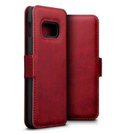 Qubits Qubits - lederen slim folio wallet hoes - Samsung Galaxy S10 Lite - Rood