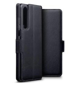 Qubits Qubits - lederen slim folio wallet hoes - Huawei P30 - Zwart