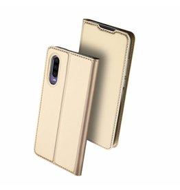 Dux Ducis Dux Ducis pro serie - slim wallet hoes - Huawei P30 - Goud