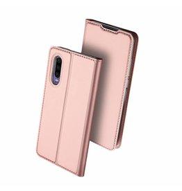 Dux Ducis Dux Ducis pro serie - slim wallet hoes - Huawei P30 - Rose  goud