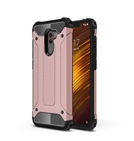 Lunso Lunso - Armor Guard hoes - Xiaomi Pocophone F1 - Rose Goud