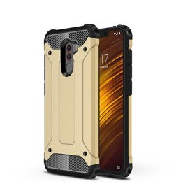 Lunso Lunso - Armor Guard hoes - Xiaomi Pocophone F1 - Goud