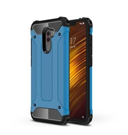 Lunso Lunso - Armor Guard hoes - Xiaomi Pocophone F1 - Lichtblauw
