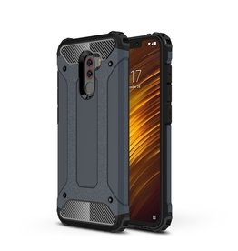 Lunso Lunso - Armor Guard hoes - Xiaomi Pocophone F1 - Donkerblauw
