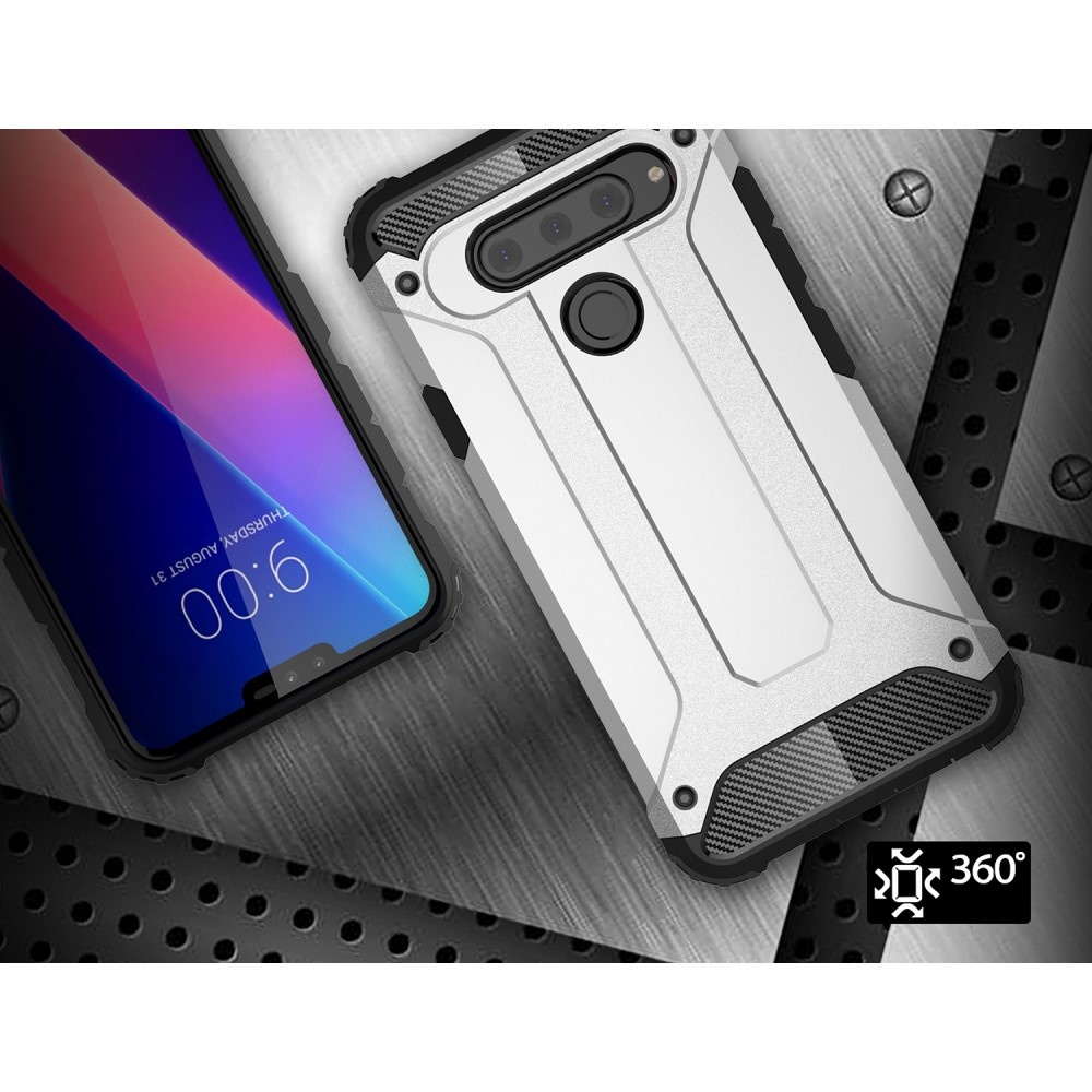 Lunso Armor Guard hoes zwart voor de LG V40 ThinQ