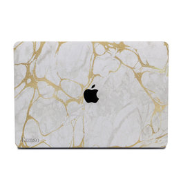 Lunso Lunso - cover hoes - MacBook Air 13 inch (2018-2019) - Marble Stella