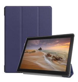Lunso 3-Vouw sleepcover hoes - Lenovo Tab E10 - Blauw