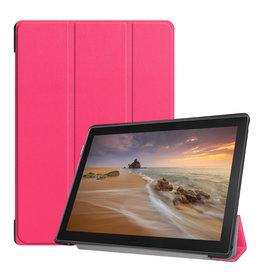 Lunso 3-Vouw sleepcover hoes - Lenovo Tab E10 - Roze