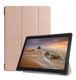 3-Vouw sleepcover hoes - Lenovo Tab E10 - Rosé goud