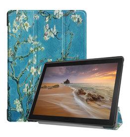 3-Vouw sleepcover hoes - Lenovo Tab E10 - Van Gogh Amandelboom