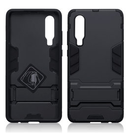 Qubits Qubits - Double Armor Layer hoes met stand - Huawei P30 - Zwart