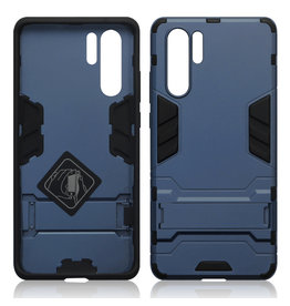 Qubits Qubits - Double Armor Layer hoes met stand - Huawei P30 Pro - Blauw