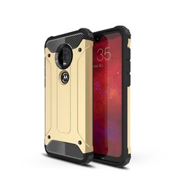 Lunso Lunso - Armor Guard hoes - Motorola Moto G7 / G7 Plus - Goud