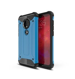 Lunso Lunso - Armor Guard hoes - Motorola Moto G7 / G7 Plus - Lichtblauw